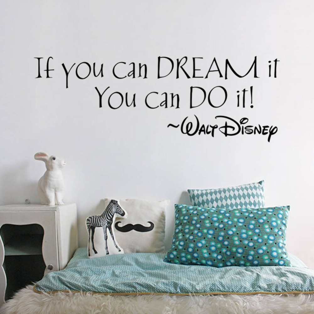 If You Can Dream It You Can Do It Inspiring Quotes Wall Stickers throughout Inspirational Quotes Wall Art (Image 7 of 20)