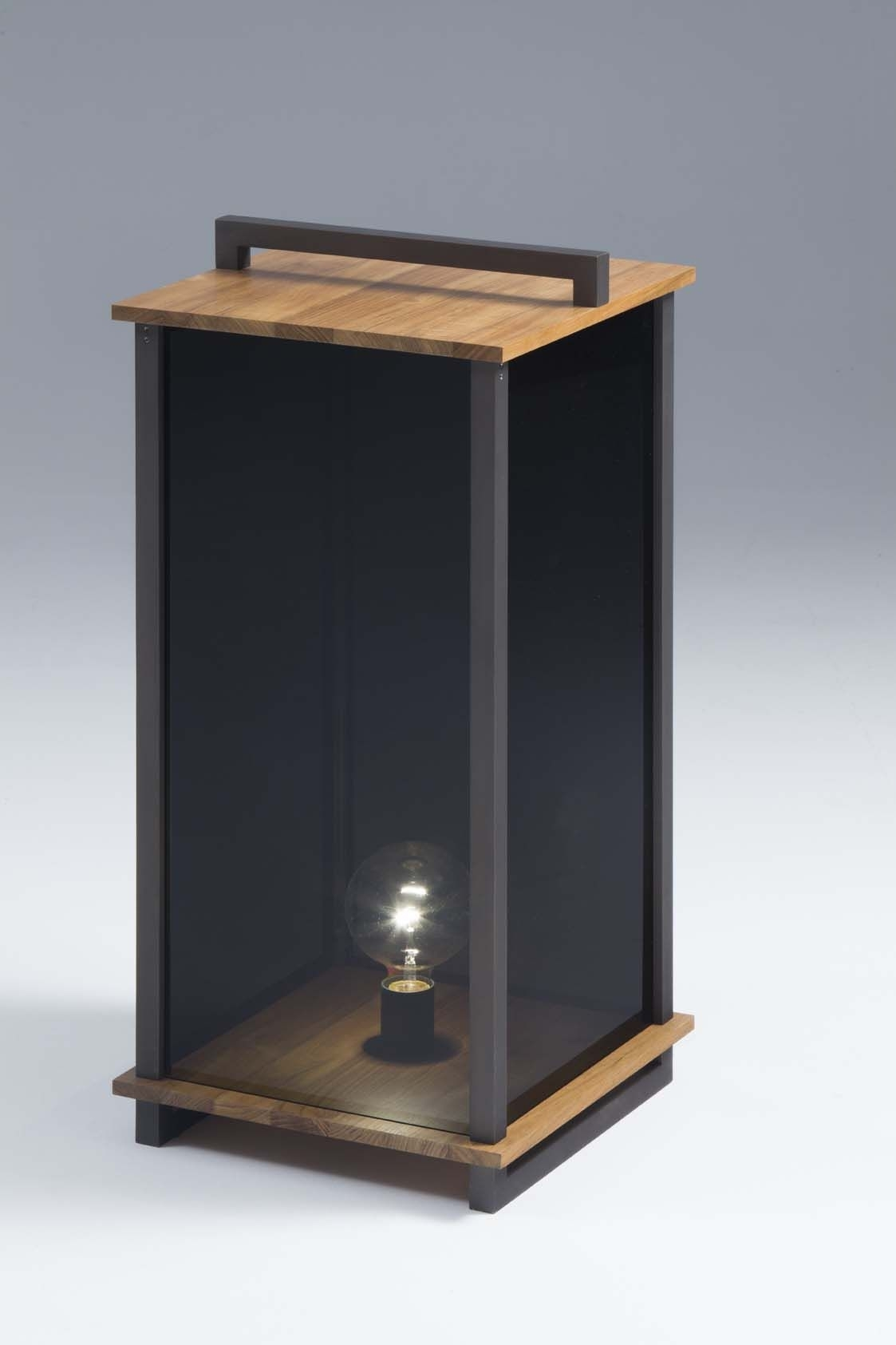 "Ikon L Lantern Teak Wood – Burnished | "" Light Indoor 
