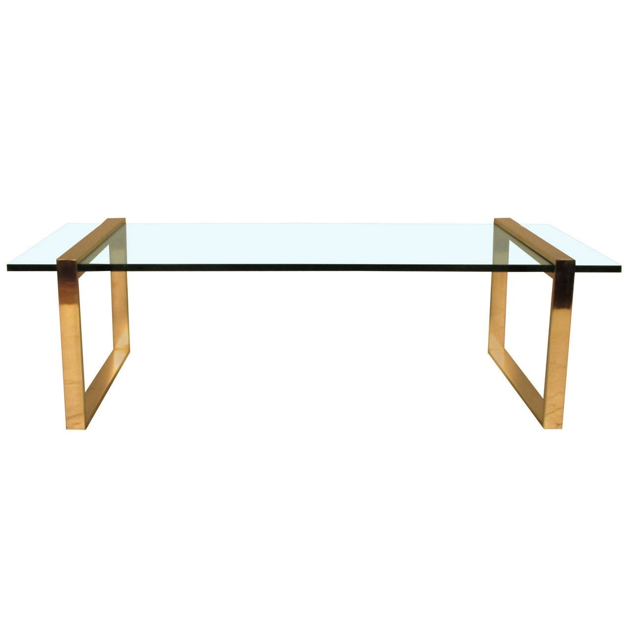Immaculate Charles Hollis Jones Brass + Glass Cocktail Table At 1Stdibs With Regard To Stately Acrylic Coffee Tables (View 13 of 30)