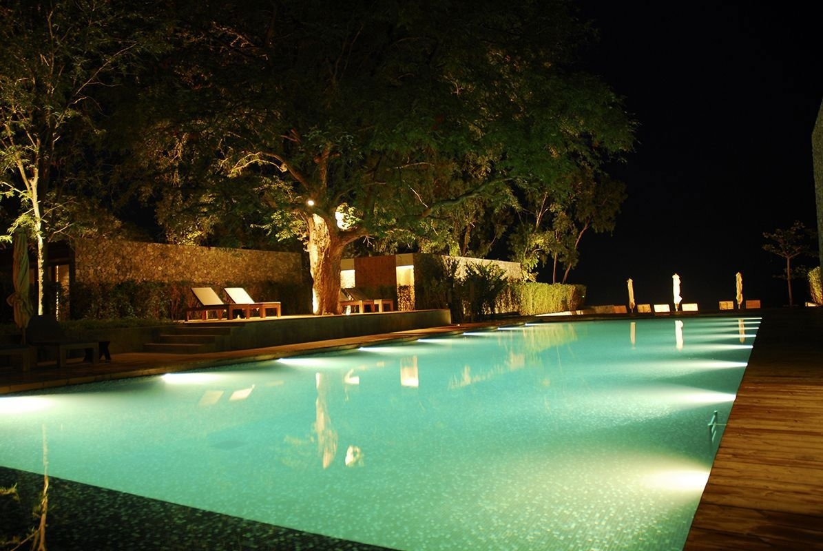 Impressive Swimming Pool Lights – Pool Lighting Ideas And Design Regarding Outdoor Lanterns For Poolside (View 6 of 20)