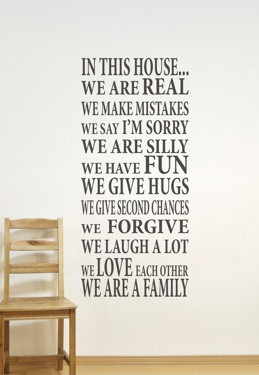 In This House Home Decor Family Wall Decalwe Are Family Vinyl Intended For Family Wall Art (View 12 of 20)