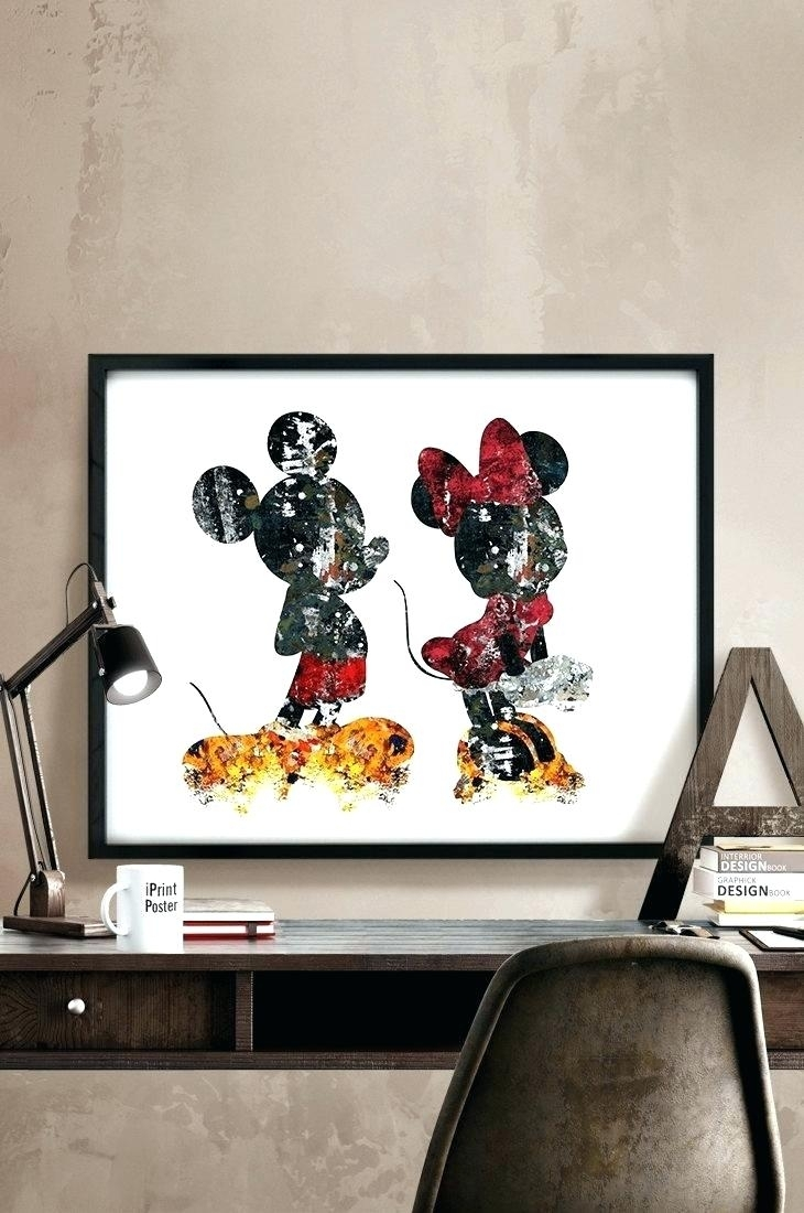 Incredible Mickey Mouse Wall Art Best Interior Arts Ideas Uk Disney inside Mickey Mouse Canvas Wall Art (Image 11 of 20)