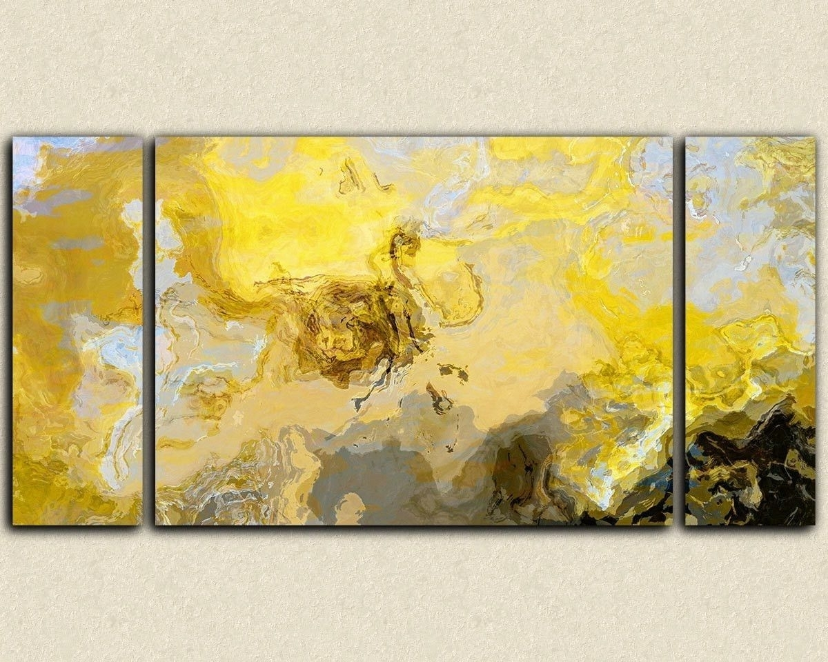 Incredible The Best Abstract Oversized Canvas Wall Art For Yellow With Regard To Oversized Canvas Wall Art (View 13 of 20)