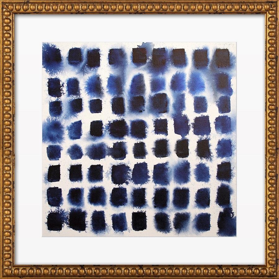 Indigo Blocks Print, Artfully Walls & Reviews   Joss & Main with Artfully Walls (Image 15 of 20)