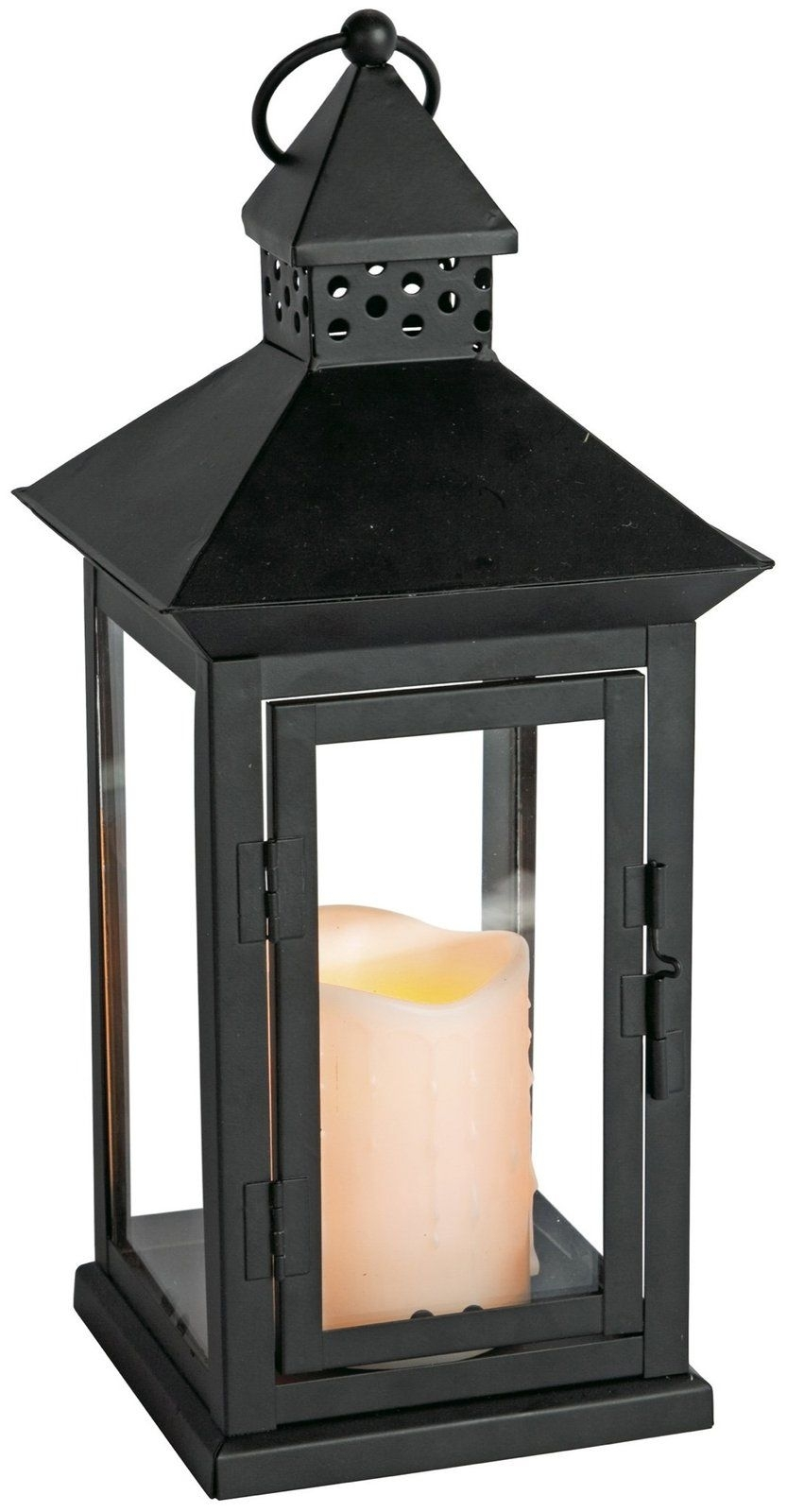 "Indoor Outdoor Flameless Candle Lantern W/ Timer, 8.5 X 14.5"" - Casa in Outdoor Lanterns With Timers (Image 10 of 20)"