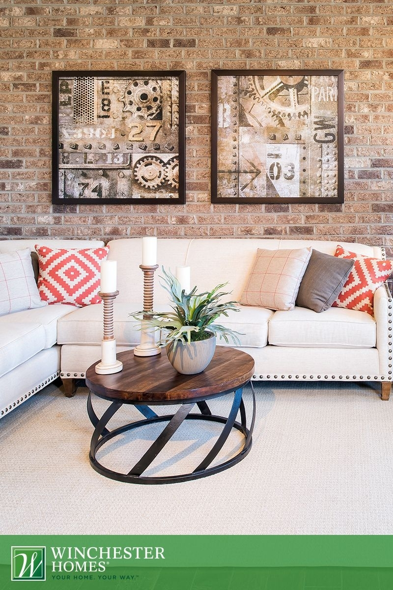 Industrial Wall Art, Hung On The Hadden Model's Exposed Brick with Industrial Wall Art (Image 11 of 20)
