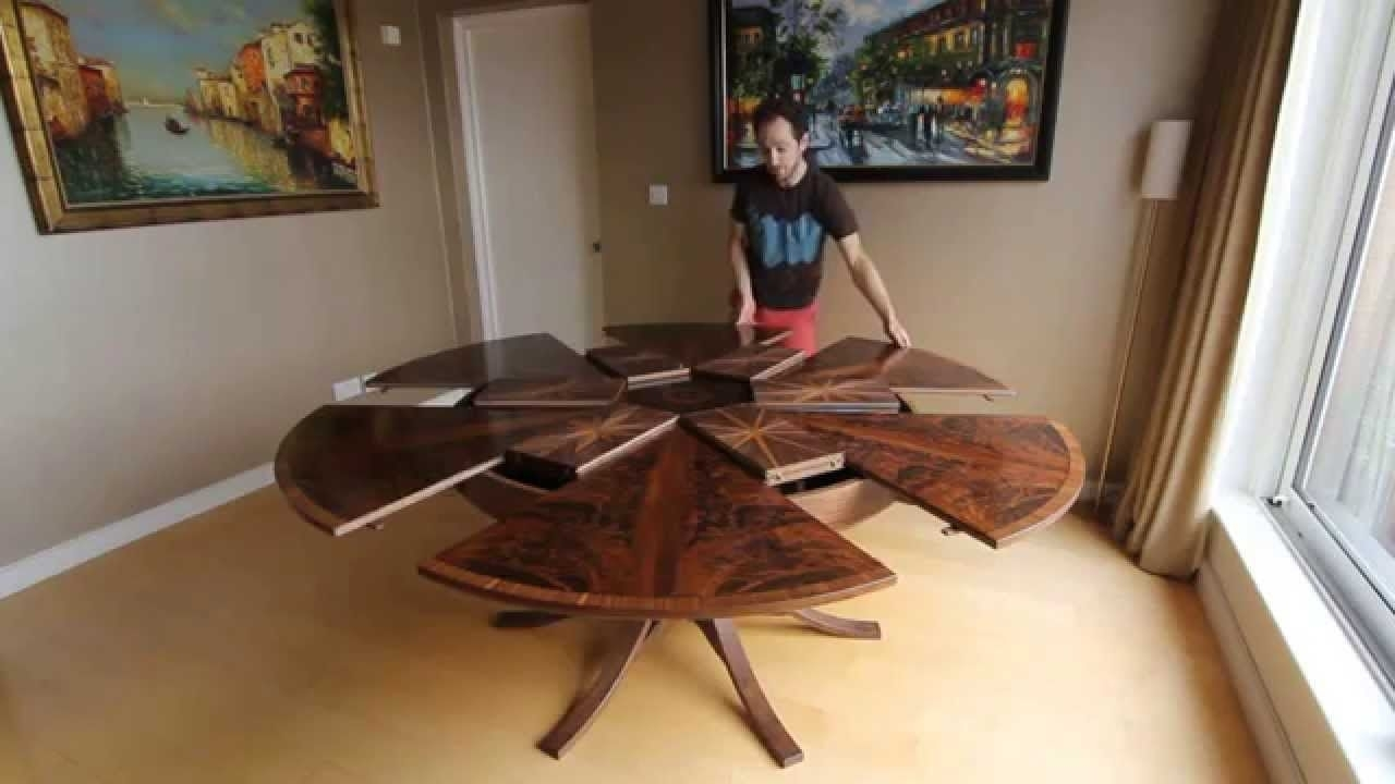 Ingenious Table Expands When You Turn It Within Spin Rotating Coffee Tables (View 11 of 30)