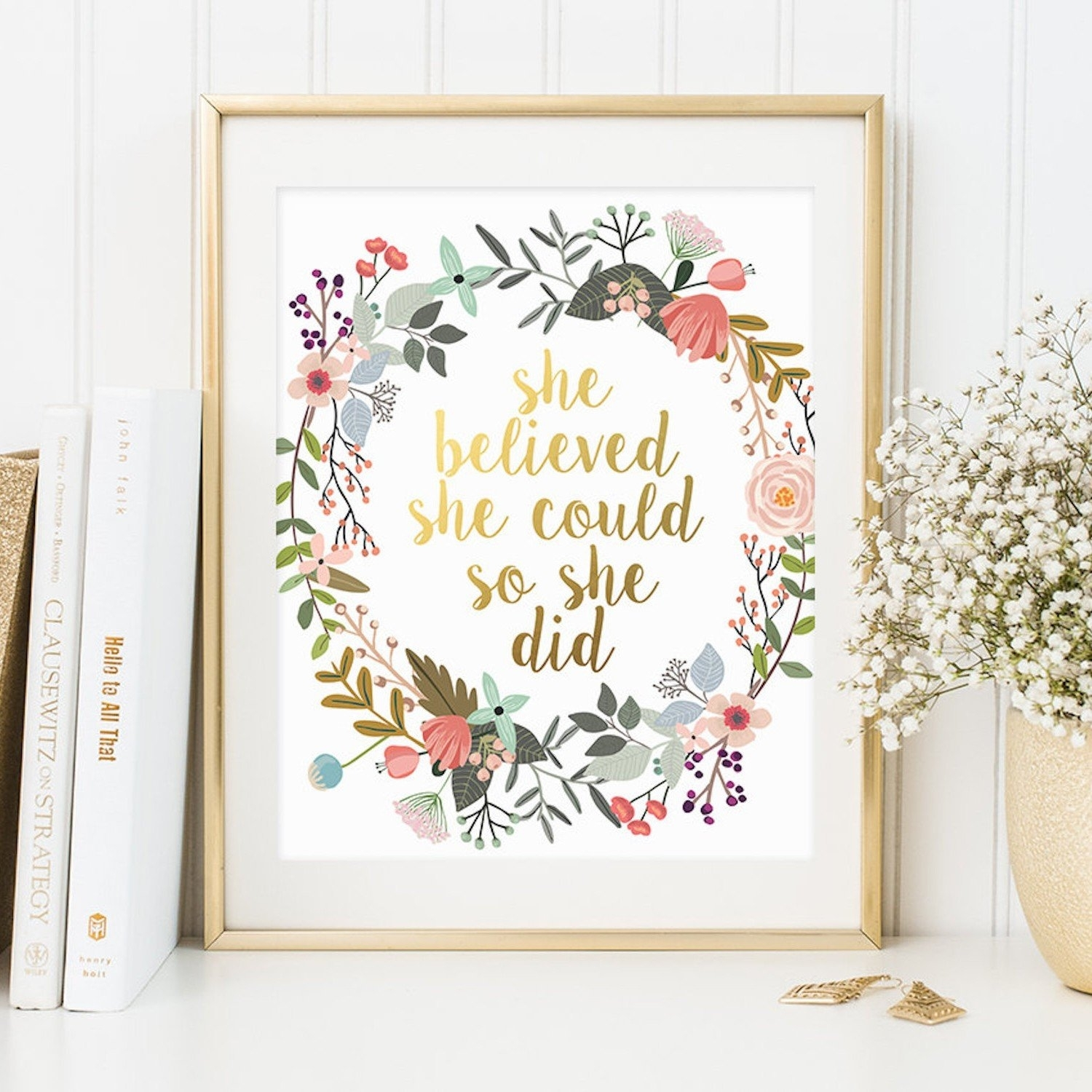 Inspirational Quote Wall Art | Popsugar Moms within Inspirational Quotes Wall Art (Image 8 of 20)