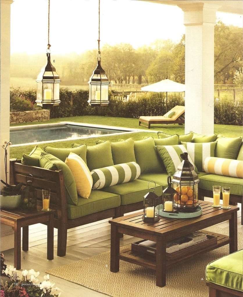 Interior: Brown Hard Wood Pottery Barn Outdoor Tables With Sectional for Outdoor Lanterns at Pottery Barn (Image 6 of 20)