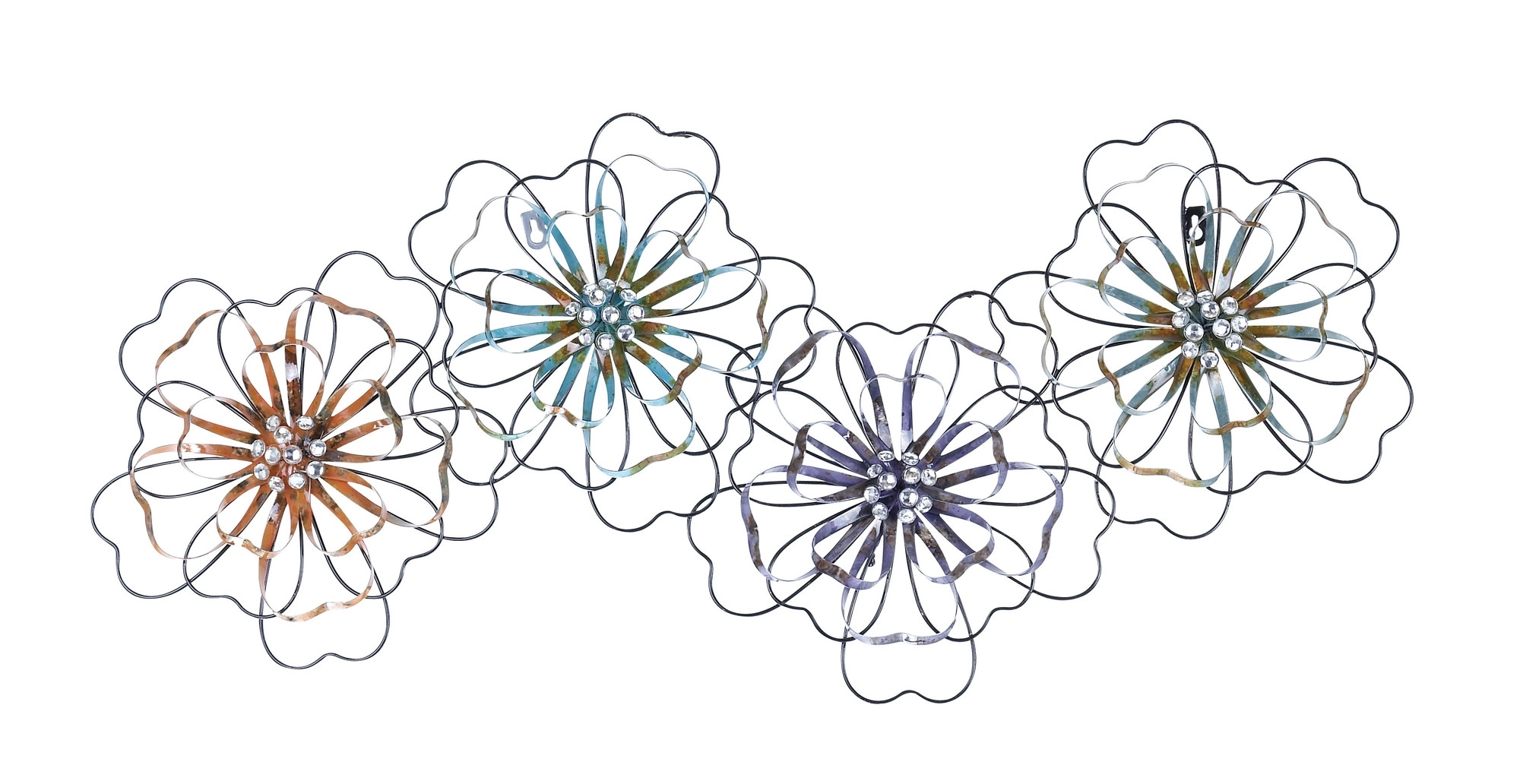 Intermingled Flowers - Floral Metal Wall Art with Metal Flowers Wall Art (Image 8 of 20)