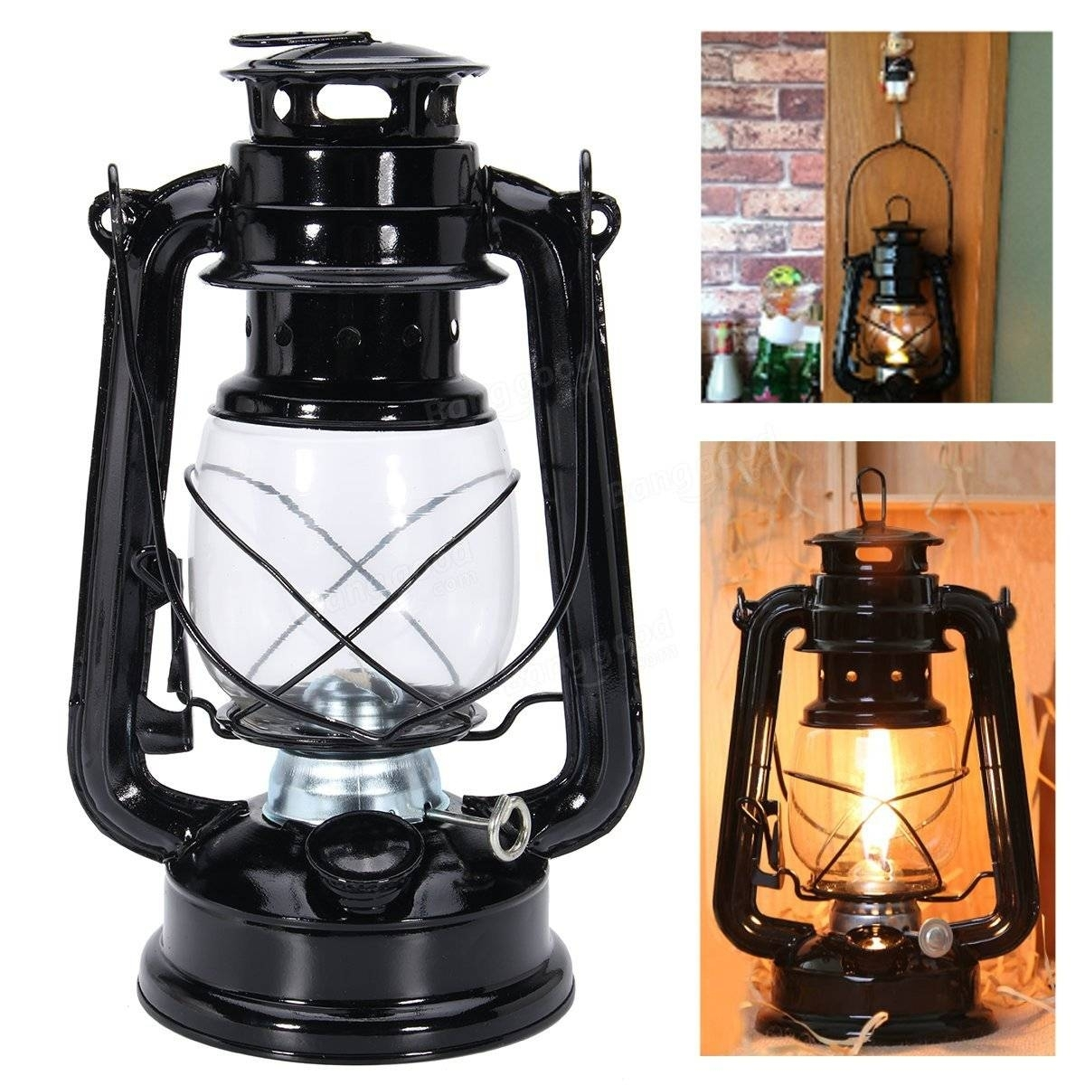 Ipree® Retro Oil Lantern Outdoor Garden Camp Kerosene Paraffin intended for Outdoor Kerosene Lanterns (Image 13 of 20)