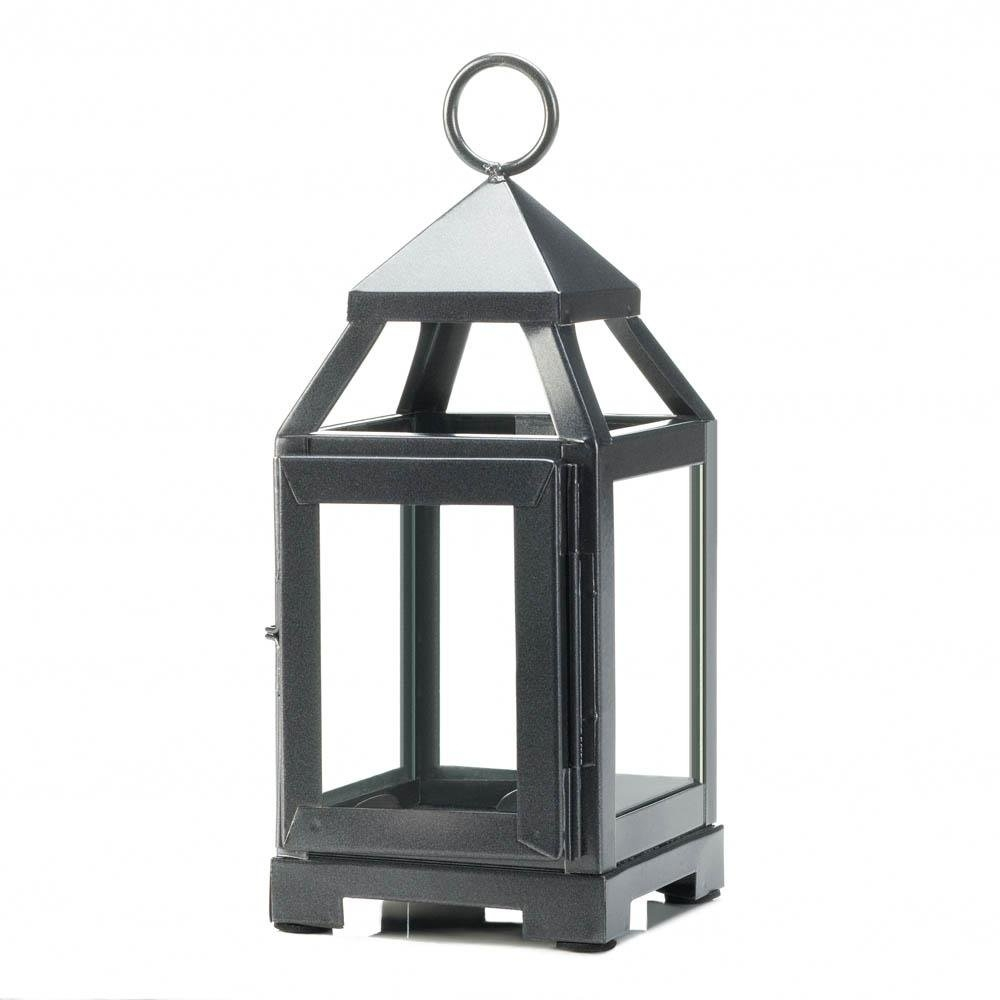 Iron Lantern Candle Holder, Iron Outdoor Rustic Mini Metal Candle with Outdoor Metal Lanterns For Candles (Image 10 of 20)