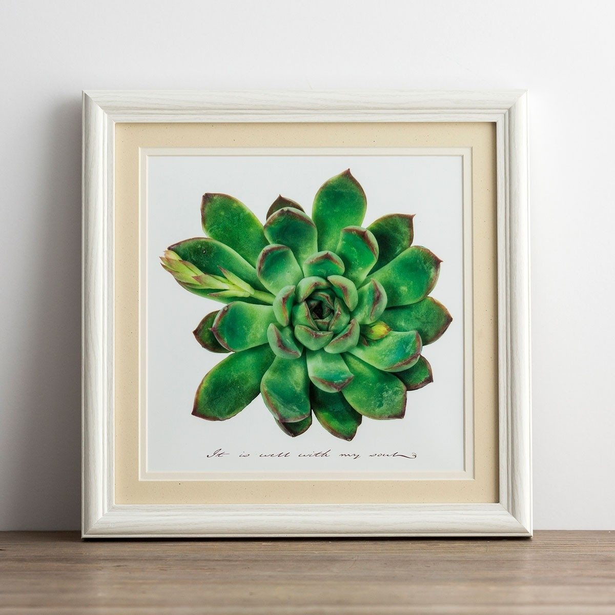 It Is Well Succulent Framed Wall Art | Dayspring intended for Succulent Wall Art (Image 8 of 20)