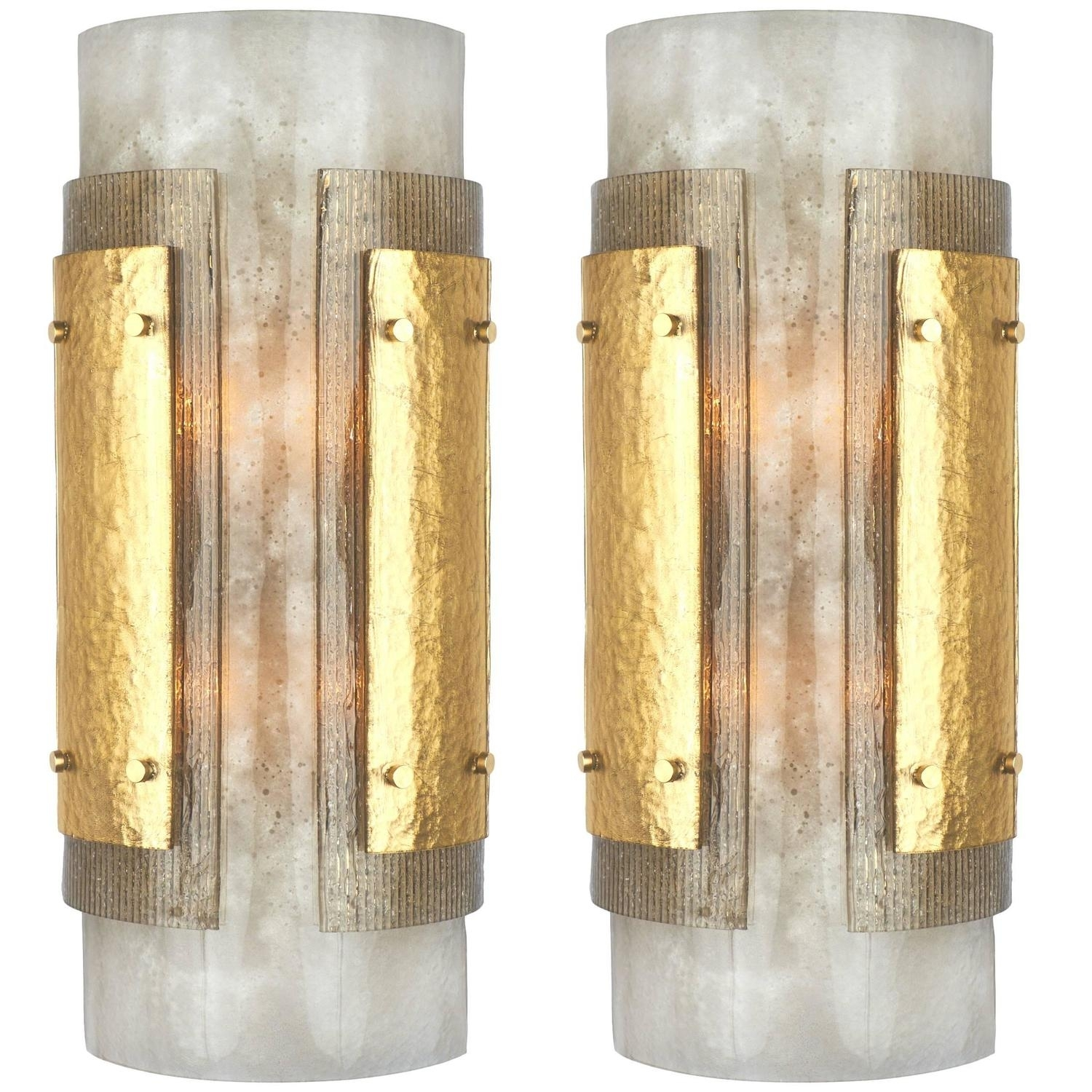 Italian Art Deco Murano Glass Wall Sconces pertaining to Art Deco Wall Sconces (Image 12 of 20)