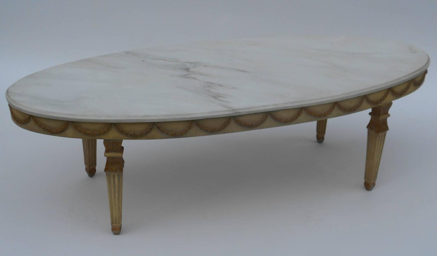 Italian Marble Top Coffee Table At 1Stdibs Intended For Smart Round Marble Brass Coffee Tables (View 16 of 30)