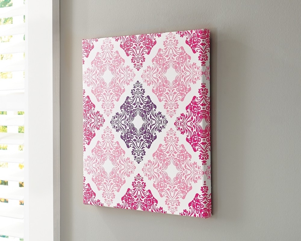 Jadine - White/pink - Wall Art | A8000161 | Wall Art | Ez Own Plus for Pink Wall Art (Image 11 of 20)