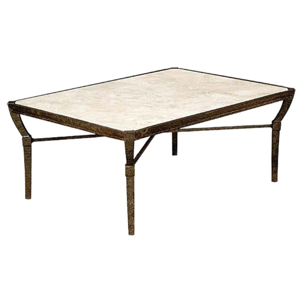 Jane Modern French Stone Top Metal Outdoor Coffee Table | Kathy Kuo Home Intended For Stone Top Coffee Tables (View 17 of 30)