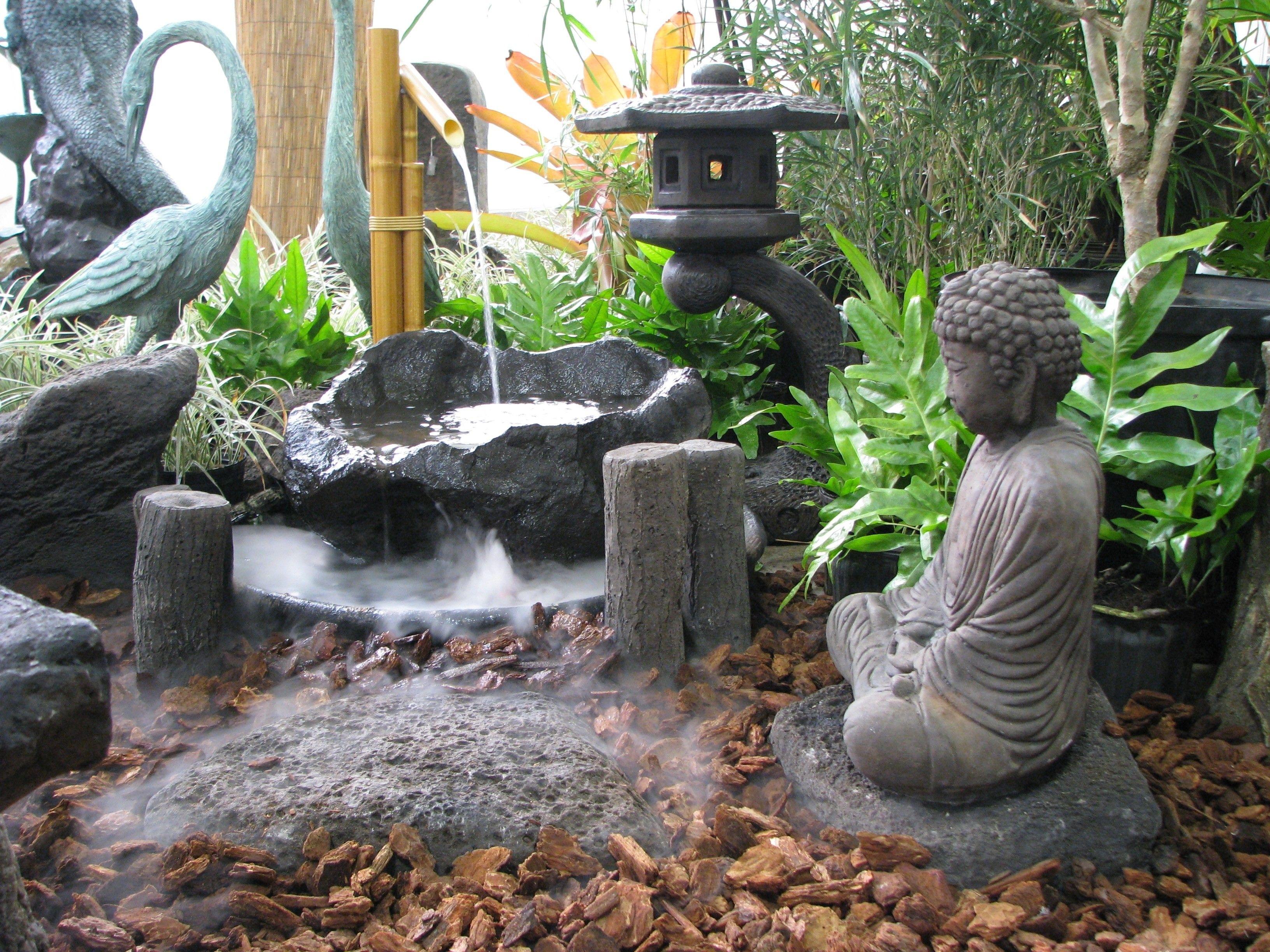 Japanese Garden Lanterns | Pohaku Bowl Garden Contians: Japanese throughout Outdoor Oriental Lanterns (Image 5 of 20)