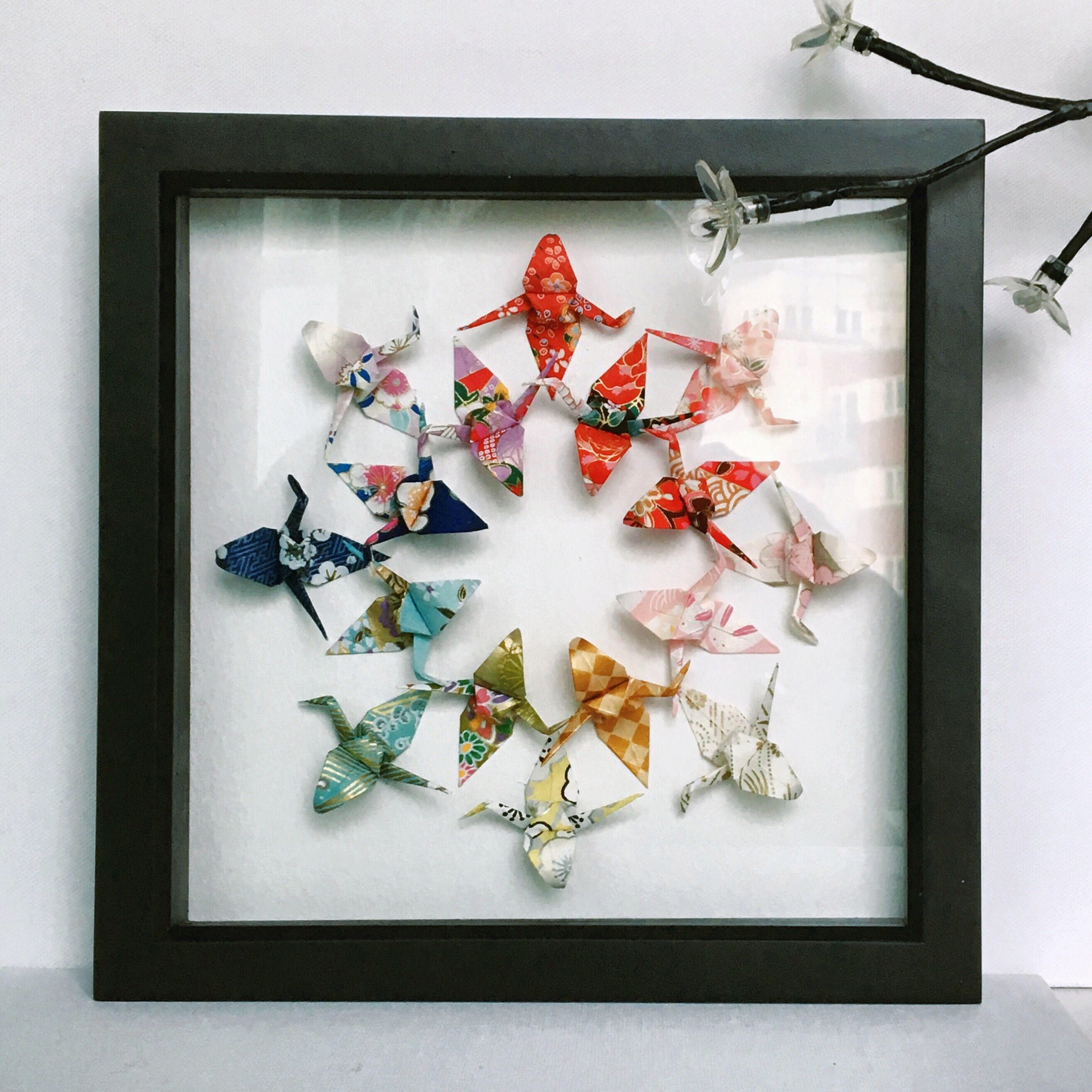 Japanese Origami Wall Art, Japanese Wall Art, Japanese Gift regarding Japanese Wall Art (Image 11 of 20)