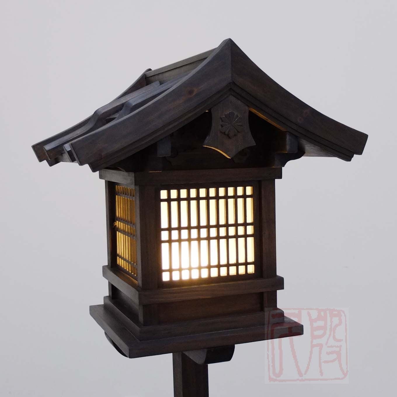 Japanese Wooden Lantern, Outdoor (Wl2) | Bonsai | Pinterest in Outdoor Wood Lanterns (Image 8 of 20)