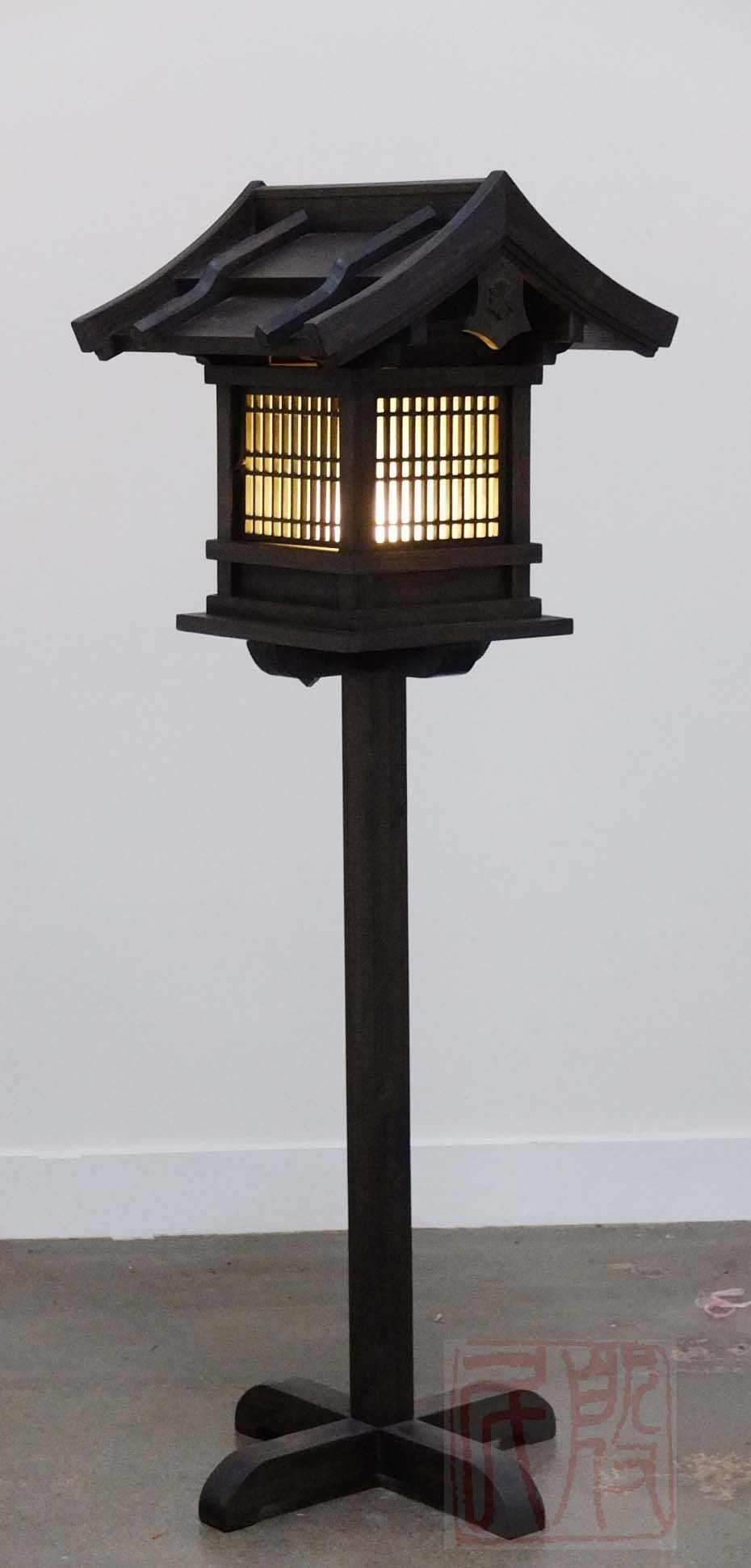Japanese Wooden Lantern, Outdoor (Wl2) | Things To Wear | Pinterest for Outdoor Oriental Lanterns (Image 9 of 20)