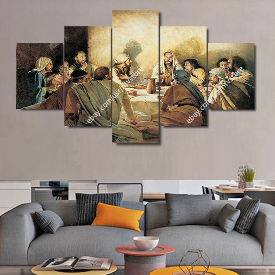 Jesus Christ Wall Art Framed Canvas Print The Last Supper Christian throughout Framed Wall Art For Living Room (Image 12 of 20)