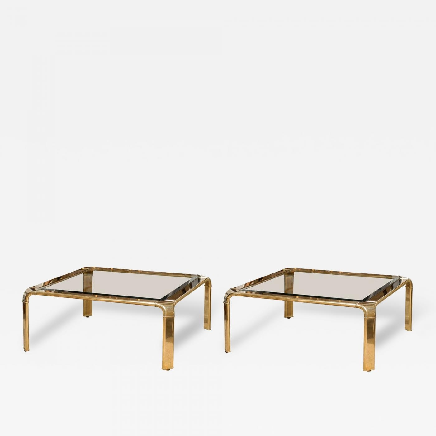 John Widdicomb - Stunning Widdicomb Brass Coffee Table With within Waterfall Coffee Tables (Image 15 of 30)