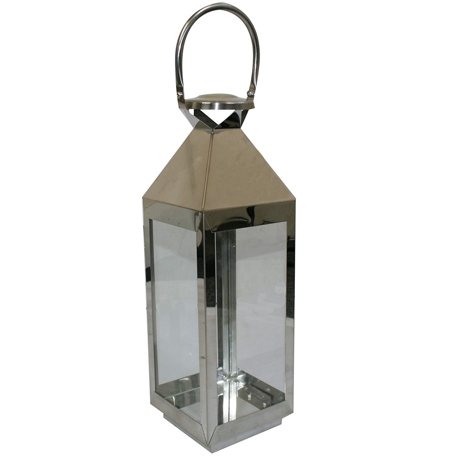 Jvl Pair Of Stainless Steel Hampton Indoor/outdoor Candle Light throughout Vaughan Outdoor Lanterns (Image 7 of 20)
