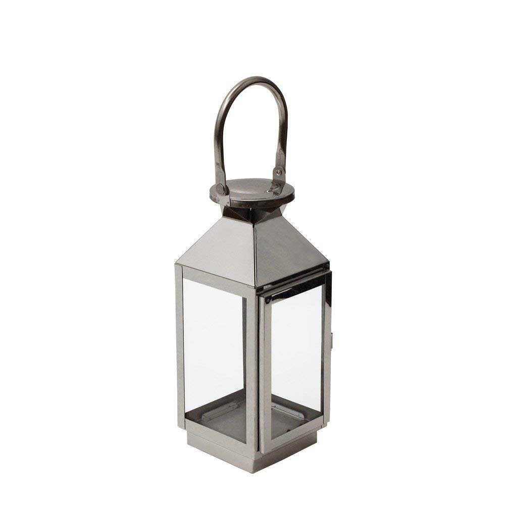 Jvl Single Stainless Steel Hampton Indoor/outdoor Candle Light with regard to Vaughan Outdoor Lanterns (Image 9 of 20)