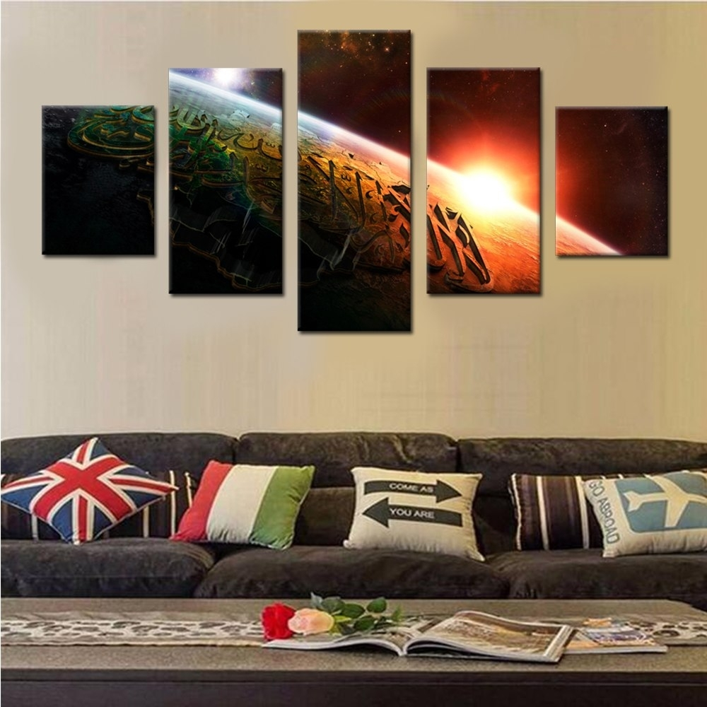 Kalima From Outer Space Canvas Set Wall Modular Pictures For Living Regarding Cheap Wall Art (Photo 5 of 20)