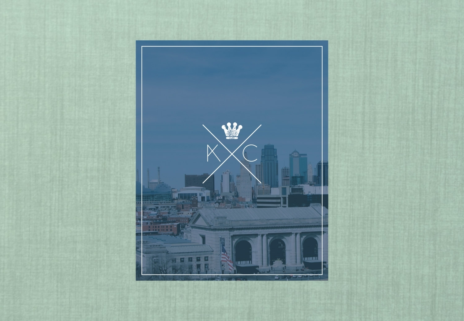 Kansas City Skyline Wall Art // 8X10 Wall Art Print // Home, Kansas with regard to Kansas City Wall Art (Image 9 of 20)