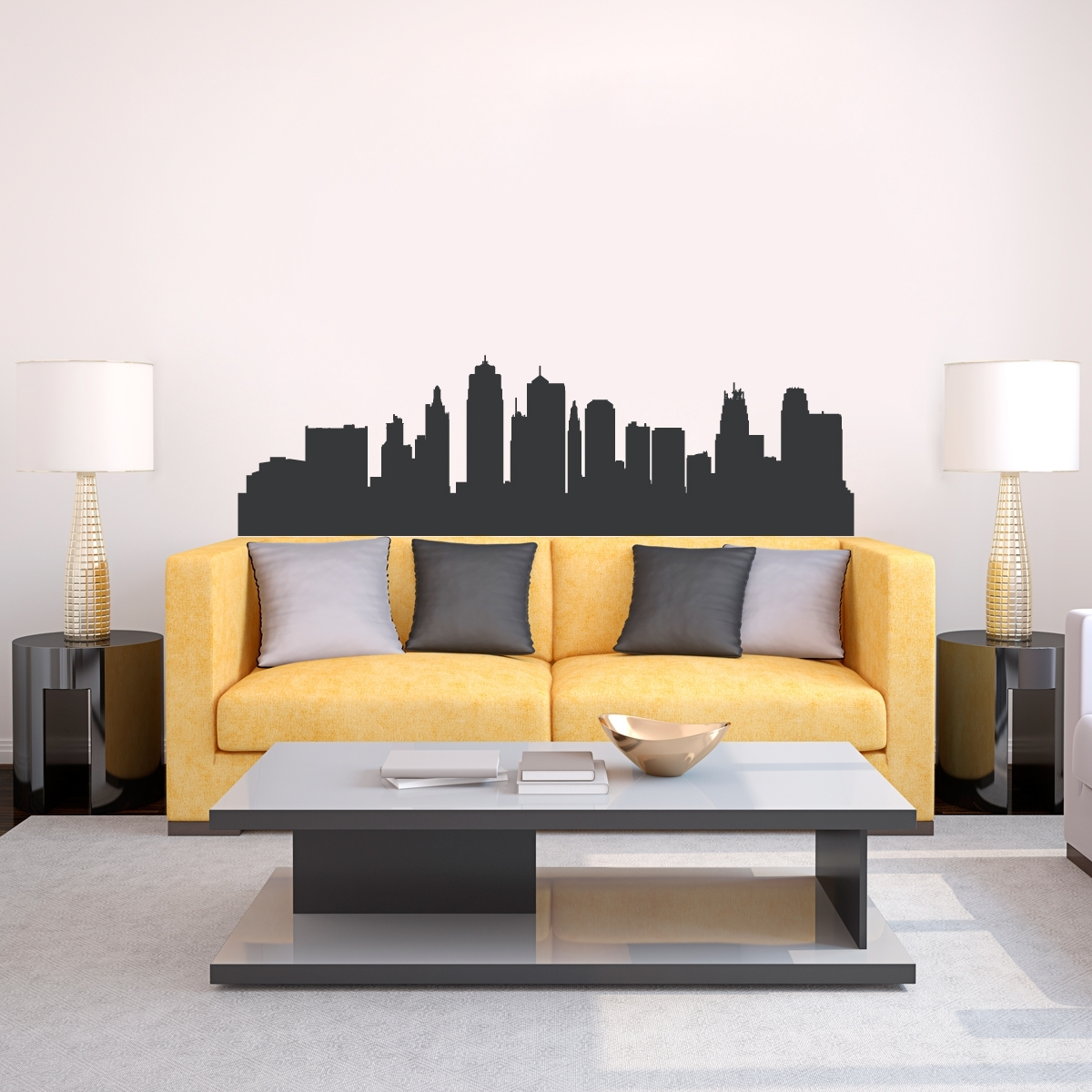 Kansas City Skyline Wall Decal Awesome Wall Decal City   Home Design For Kansas City Wall Art (Photo 19 of 20)