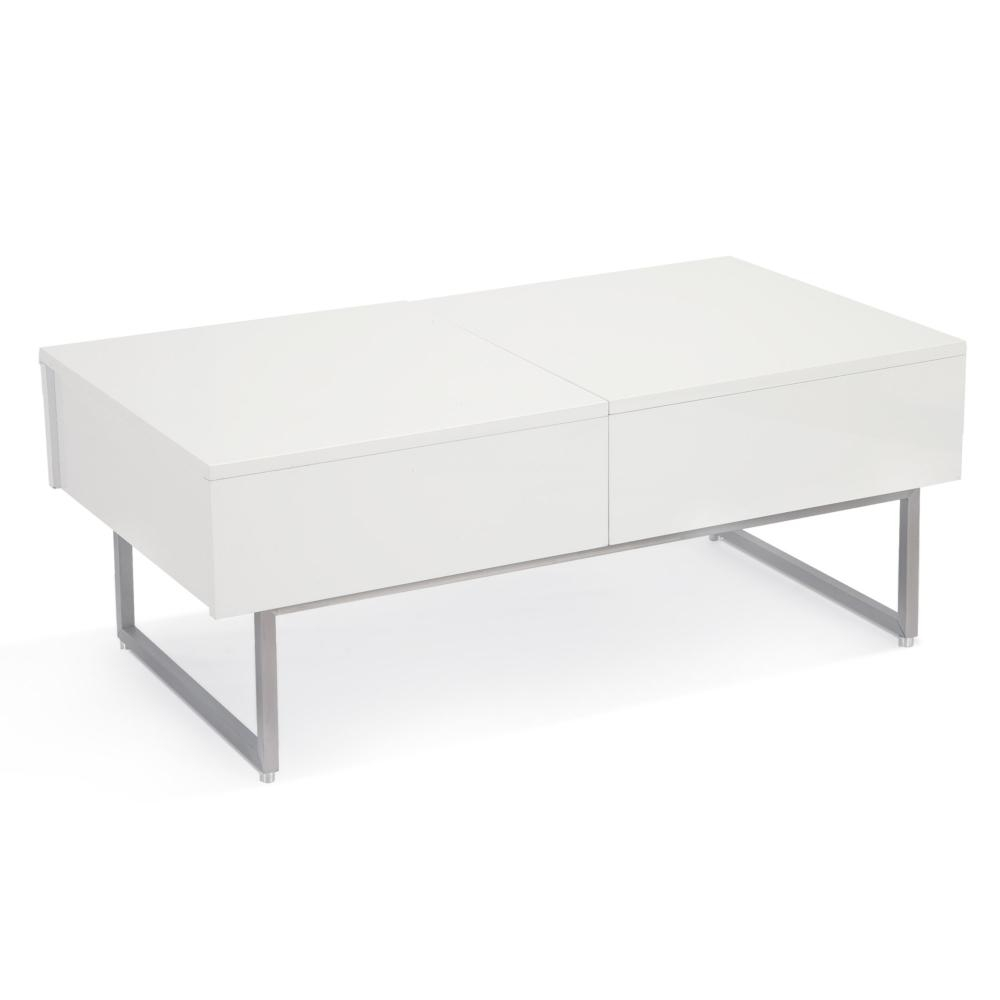 Kansu Coffee Table White - Boulevard Urban Living intended for Square Waterfall Coffee Tables (Image 10 of 30)