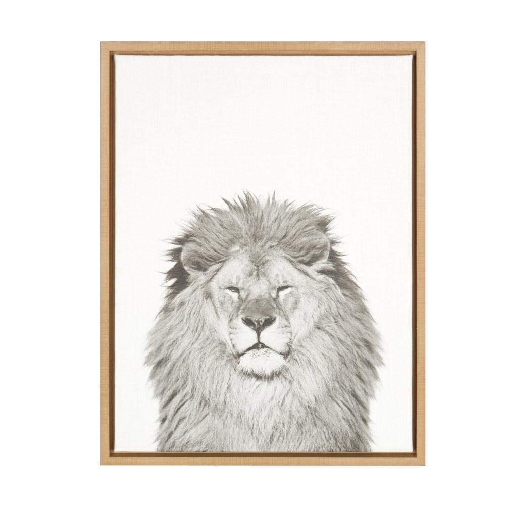 "Kate And Laurel 24 In. X 18 In. ""lion""tai Prints Framed Canvas Regarding Lion Wall Art (Photo 20 of 20)"