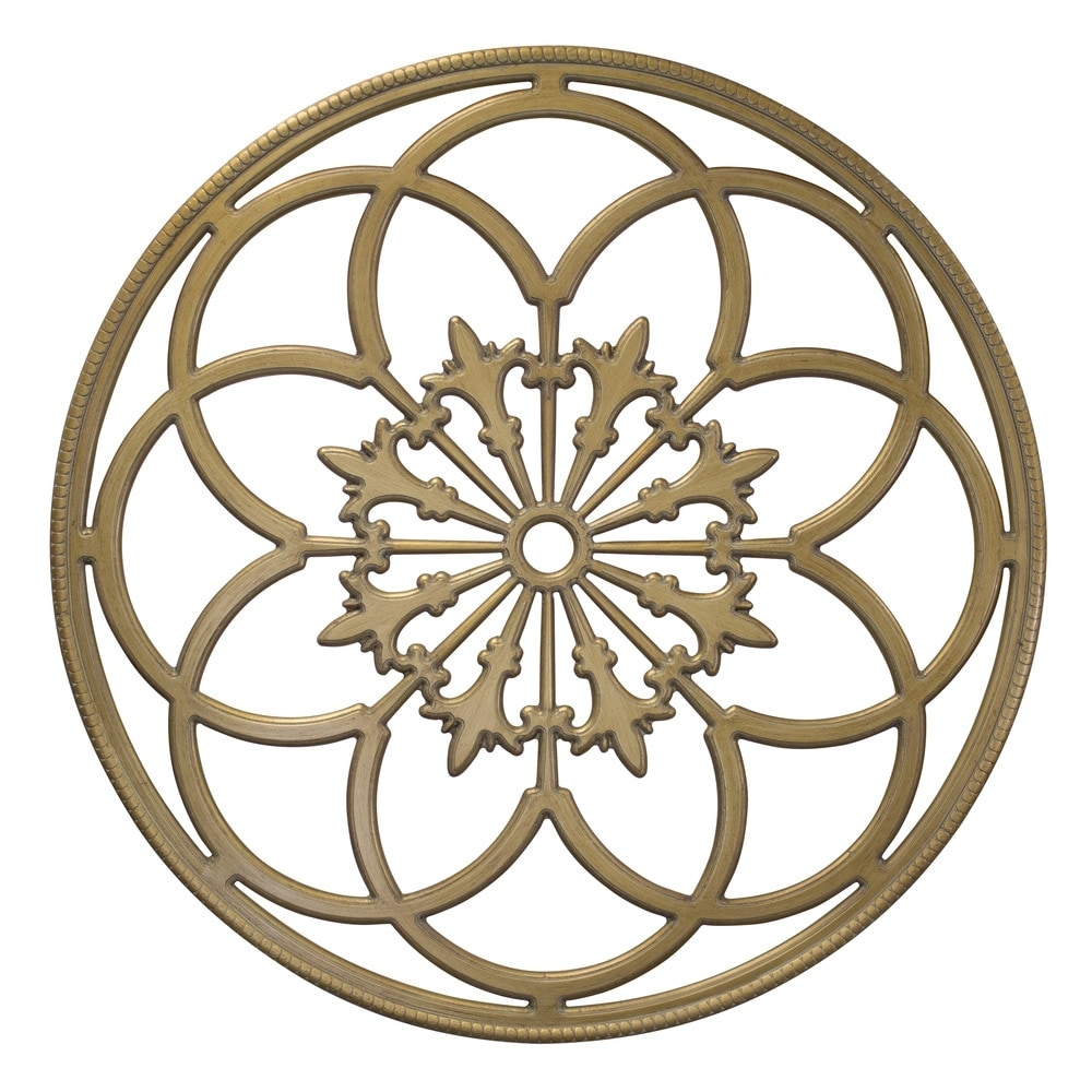 Kate And Laurel Round Wood Medallion Wall Art Wood Wall Art / 32 Within Wood Medallion Wall Art (Photo 14 of 20)