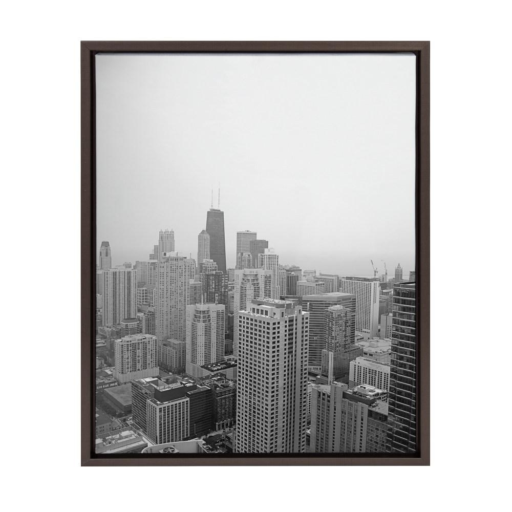 "Kate And Laurel Sylvie ""chicago 2""f2Images Framed Canvas Wall within Chicago Wall Art (Image 17 of 20)"