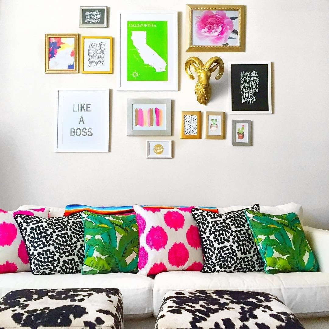 Kate Spade Inspired Decor Ideas For Living Room | Brit + Co With Regard To Kate Spade Wall Art (Photo 15 of 20)