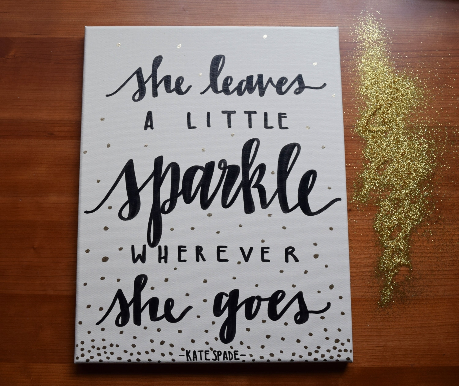 Kate Spade Quote Kate Spade Canvas Kate Spade Lettered, Kate Spade With Kate Spade Wall Art (Photo 8 of 20)