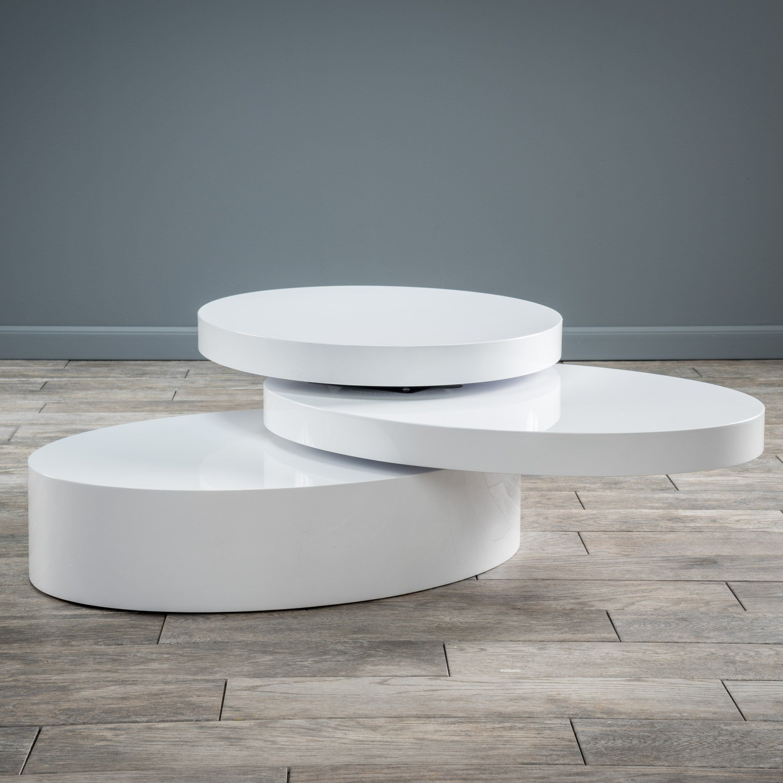 Kendall Oval Mod Swivel Coffee Table * More Details Might Be Located in Spin Rotating Coffee Tables (Image 12 of 30)