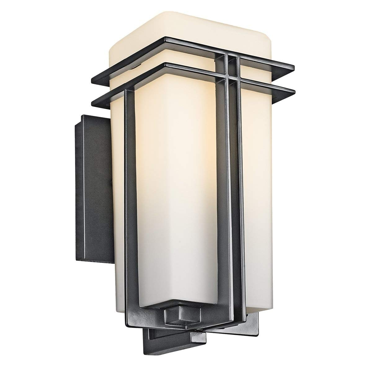 Kichler 49200Bk One Light Outdoor Wall Mount - Wall Porch Lights inside Outdoor Wall Lanterns (Image 11 of 20)