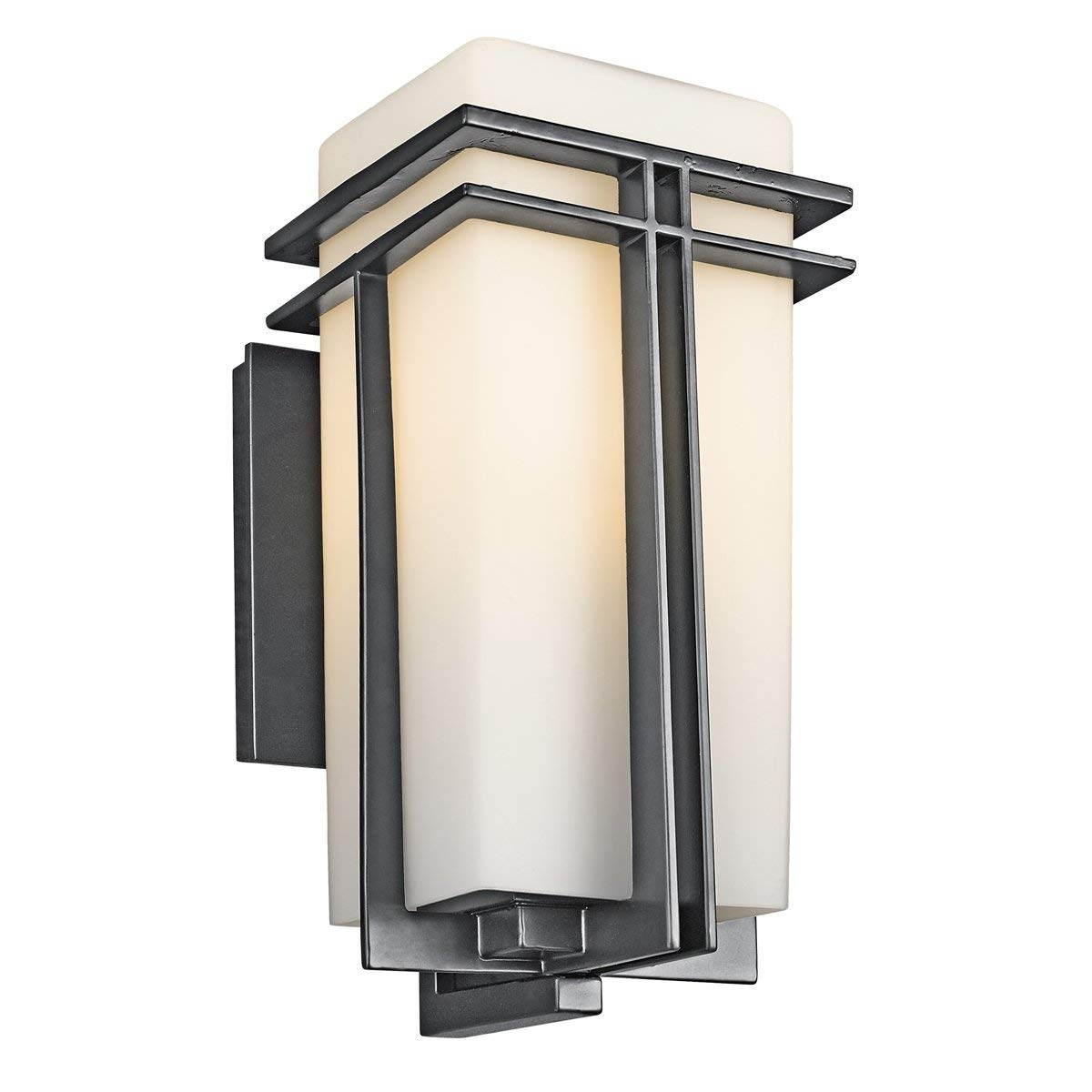 Kichler 49200Bk One Light Outdoor Wall Mount – Wall Porch Lights Intended For Outdoor Exterior Lanterns (Gallery 18 of 20)