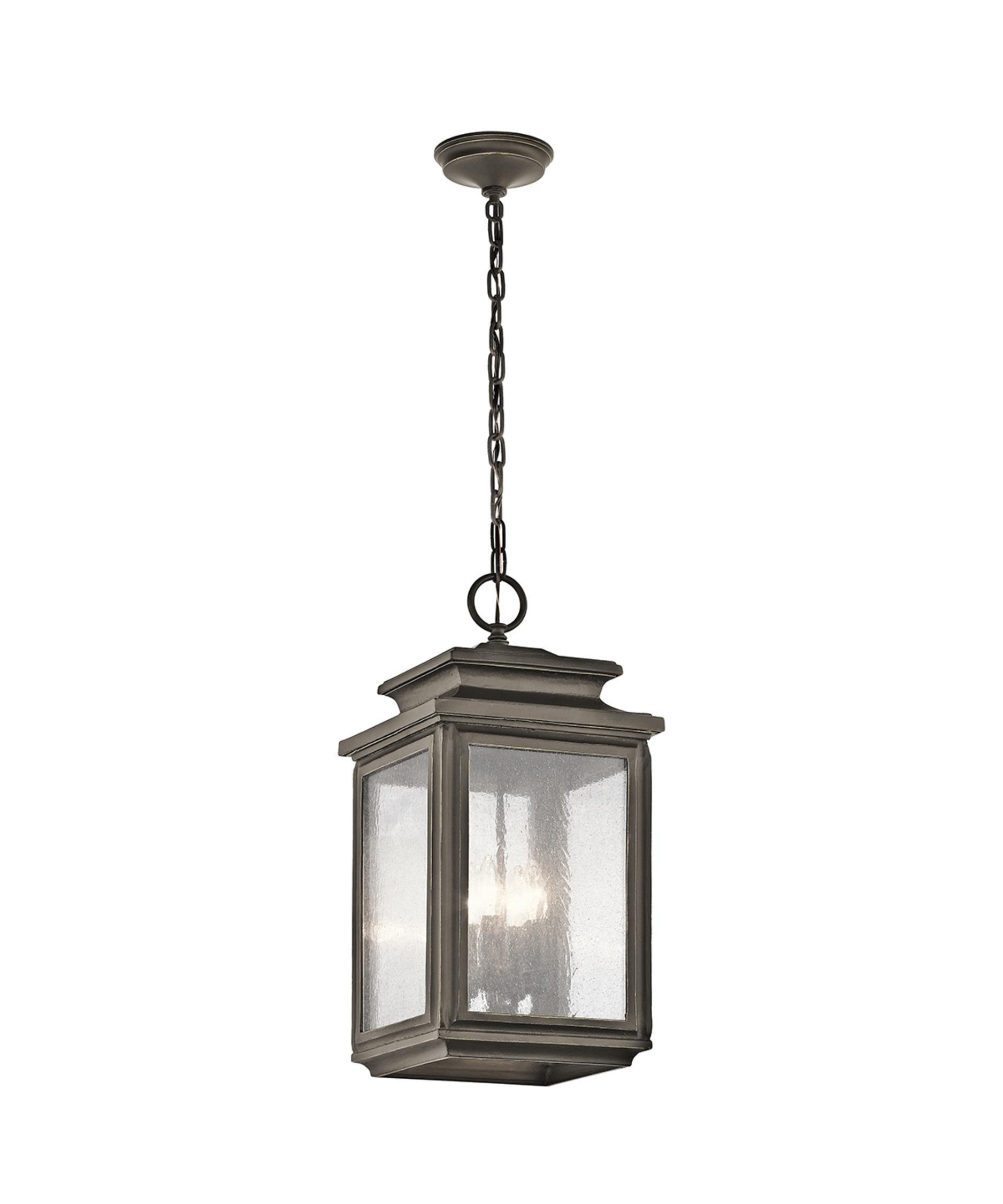 Kichler 49505 Wiscombe Park 11 Inch Wide 4 Light Outdoor Hanging Pertaining To Kichler Outdoor Lanterns (Photo 19 of 20)