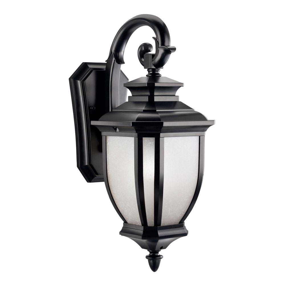 Kichler 9040Bk One Light Outdoor Wall Mount   Wall Porch Lights For Outdoor Lanterns At Amazon (Photo 7 of 20)