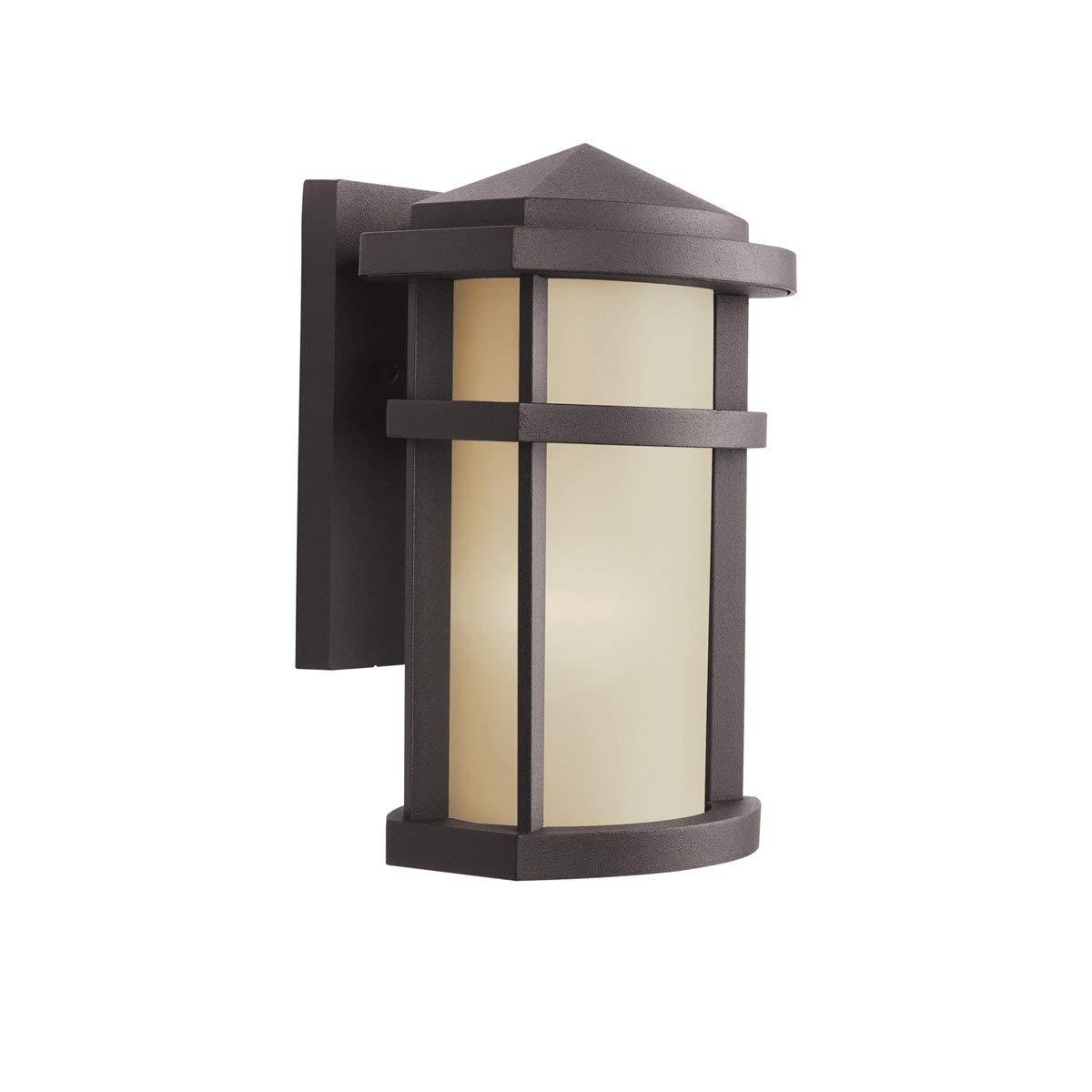Kichler 9166Az Lantana Outdoor Wall 1 Light, Architectural Bronze With Kichler Outdoor Lanterns (Gallery 12 of 20)