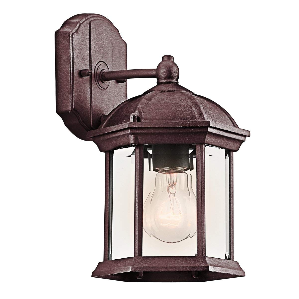 Kichler 9735Bk Barrie Outdoor Wall 1 Light, Black – Wall Porch For Kichler Outdoor Lanterns (Gallery 14 of 20)
