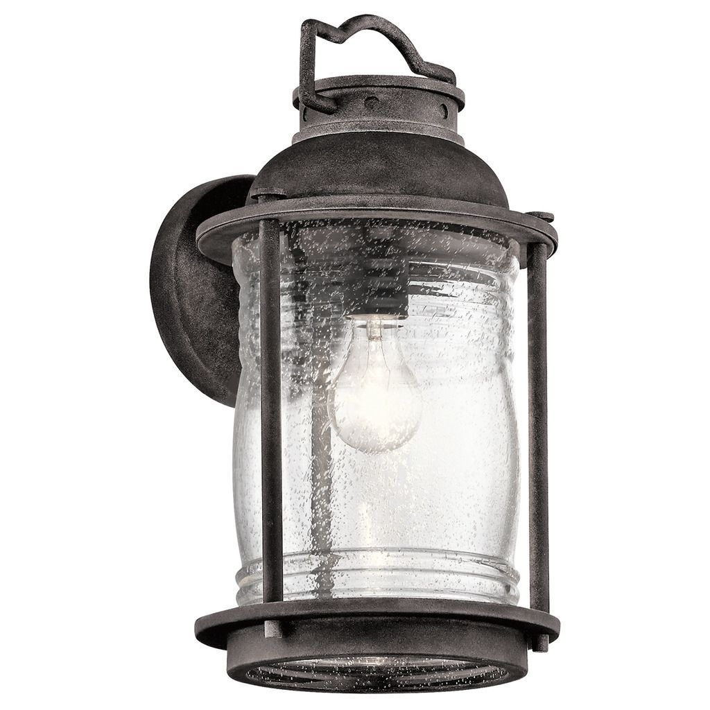 Kichler Lighting Ashland Bay Collection 1 Light Weathered Zinc For Zinc Outdoor Lanterns (Gallery 18 of 20)