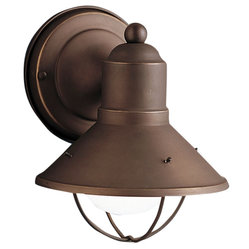 Kichler Nautical Outdoor Wall Light In Bronze Finish | 9021Oz throughout Outdoor Nautical Lanterns (Image 7 of 20)
