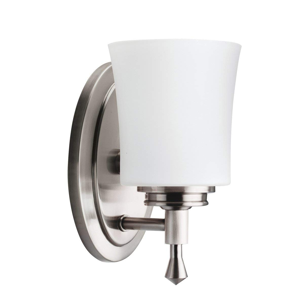 Kichler Wharton Wall Sconce Light Brushed Nickel Vanity Lighting regarding Outdoor Lanterns At Bunnings (Image 10 of 20)