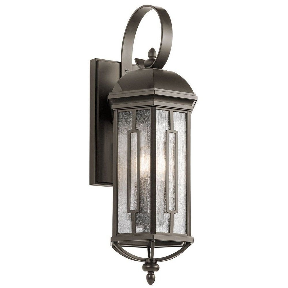 Kichlerlighting | Galemore   Three Light Large Outdoor Wall Mount Inside Large Outdoor Wall Lanterns (Photo 17 of 20)