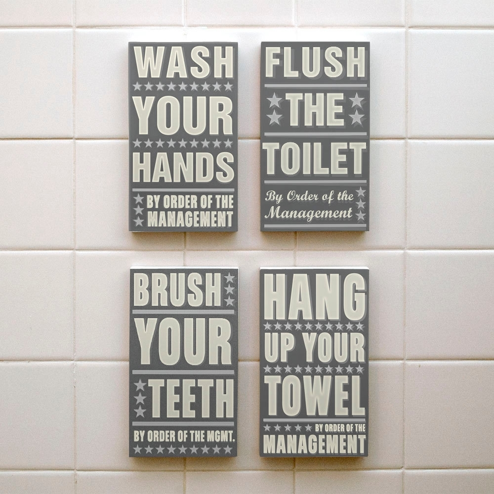 Kids Bathroom Wall Decor Ideas : Awesome Kids Bathroom Wall Decor With Regard To Bathroom Wall Art Decors (Gallery 16 of 20)